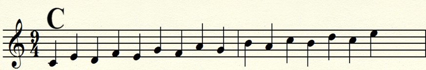 key of c major interval scales